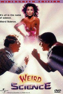 WEIRD SCIENCE: Directed by John Hughes. With Anthony Michael Hall, Ilan Mitchell-Smith, Kelly LeBrock, Bill Paxton. Two high school nerds attempt to create the perfect woman, but she turns out to be more than that. Film Movie, See Movie, 80s Movies, Great Movies, Excellent Movies, Comedy Movies, Weird Science Movie, Science Movies, Kid Science