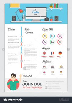 Download template cv kreatif word desain cv kreatif template cv flat resume cv set with infographics vector buy this stock vector on shutterstock find other images template 7 yelopaper Choice Image