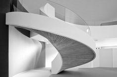 Oscar Niemeyer's Niemeyer Center in Aviles, Spain. Looks like a mushroom underneath