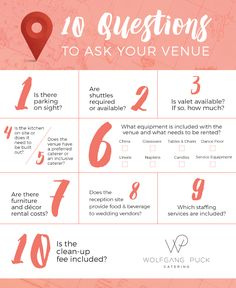 23 Questions To Ask Your Wedding Venue As A Coordinator My Self These Are Great Help Figure Out What E Is Best For