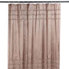Kirklands Taupe Ruffle Shower Curtain