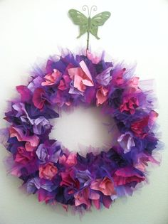 Items similar to Rhinestone Tulle Wreath - Ivory with Feather Flower Accent - Made to Order on Etsy