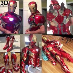 printable suit: thanos and iron man mark xlvi fusion armor (model Iron Man Cosplay, Cosplay Armor, Cosplay Diy, Iron Man Suit, Iron Man Armor, Pepakura Iron Man, Armadura Cosplay, Diy For Men, Captain America Civil War
