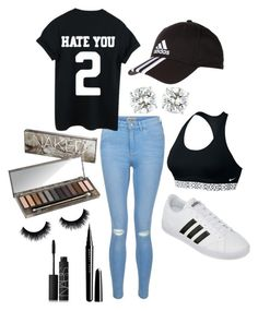 """""""Untitled #94"""" by katiecarroll1234 on Polyvore featuring New Look, Urban Decay, adidas, NIKE, Marc Jacobs and NARS Cosmetics"""
