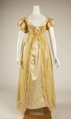 Ball gown ca. 1811 via The Costume Institute of the Metropolitan Museum of Art