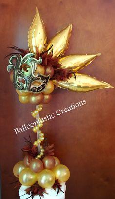 For a magical masquerade party, consider this unique centerpiece ...