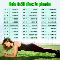 RETO: 30 DIAS DE PLANCHA - Dieta Fitness