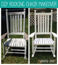 Weekend Craft DIY Rocking Chair Makeover by Creative Ramblings.