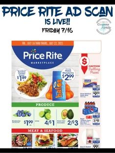 Price Rite Ad 7/16: $.77 Ajax Laundry Detergent, $.99 Garlic Toast and more Coupon Matchups, Grocery Store, Seafood, Garlic, Toast, Ads, Laundry Detergent, Coupons, Sea Food