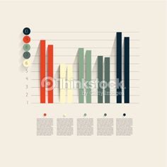 Vector Art : Example of business flat design graph. Infographics chart.