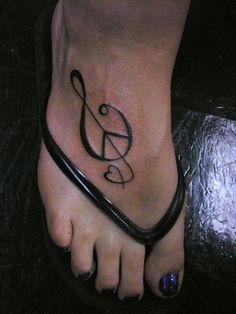 Love Peace  Music --Tattoo