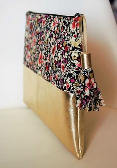 How to Make a Hobo Bag - Sewing Method Sewing Projects For Beginners, Sewing Tutorials, Sewing Patterns, Sewing Tips, Diy Pochette, Diy Clutch, Clutch Bag, Couture Sewing, Handmade Bags