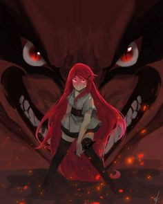 Kushina Uzumaki and Kurama Beautiful Fanart ❤️❤️❤️