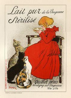Théophile Alexandre Steinlen: Lait pur stérilisé de la Vingeanne 1897 #affiche #poster