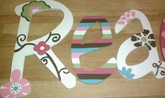cute hand-painted letters.  could also use scrapbook paper