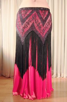 Belly dance hip over skirt Flapper YOUR SIZE by creaturre Tribal Fusion, Dance Gear, Coral Skirt, Tribal Costume, Tribal Belly Dance, Mermaid Skirt, Belly Dance Costumes, Hot Dress, Dance Outfits