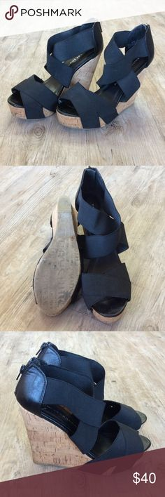 """⚠️ FLASHSALE CHINESE LAUNDRY Cork Wedges 4"""" Heel height Chinese Laundry Shoes"""
