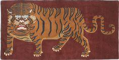 TIBETIAN BUDDHIST CARPETS | Rugs: Big Bull Tiger Carpet - Tibetan Tiger Rugs, Beads, Buddhist ...