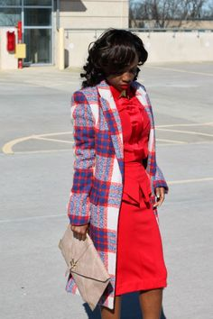 Prissysavvy: Monochrome Red + Check Print