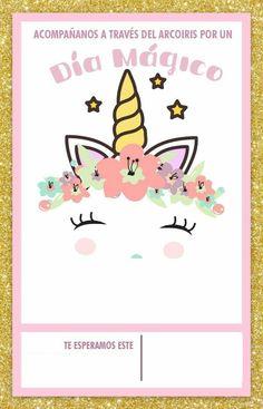 Tarjeta zoe Unicorn Themed Birthday Party, Rainbow Birthday, Dog Birthday, Unicorn Party, Birthday Party Themes, Unicorn Invitations, Pink Invitations, Business Invitation, Unicorn Face