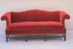 Make Camel Back Sofa Slipcovers - Home Designs Country Furniture, Furniture Decor, Upholstered Furniture, Vintage Furniture, Furniture Design, Living Room Red, Living Room Sofa, Dining Room, Leather Sofa Decor