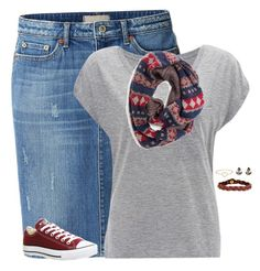 """So bored right now"" by nshall03 ❤ liked on Polyvore featuring mode, Uniqlo, Target, Converse, Nicole en Aurélie Bidermann"