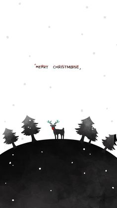 Tap image for more Christmas Wallpapers! Merry Christmas with Reindeer - mobile9