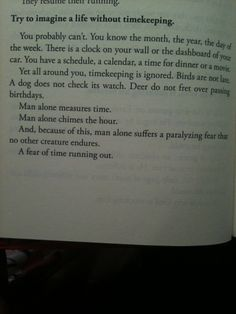 "Mitch Albom's ""The Timekeeper""--I loved this quote when I read it, and I was so happy to find it here."