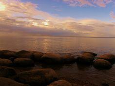 Lake Peipsi at sundown