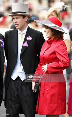 Princess Eugenie of York and Jack Brooksbank attend Day 5 of Royal Ascot at Ascot Racecourse