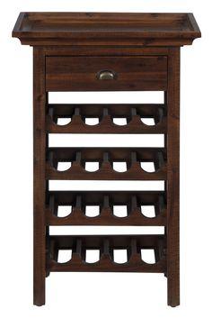Shop For The Jofran Urban Lodge Brown Wine Rack At DuBois Furniture