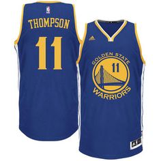 Youth Golden State Warriors Klay Thompson adidas Royal Blue Road Replica  Jersey  2017NBAFinals  Champions 80b2a00f3