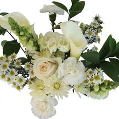 FiftyFlowers.com - White Wedding Table Decoration Centerpieces