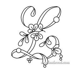 Floral script alphabet: letters I-L (via Mary Corbet)