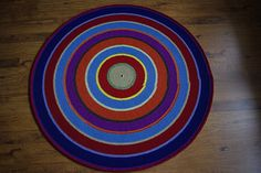 Crochet round rug 55'' 140 cm Made to order by AnuszkaDesign, $145.00