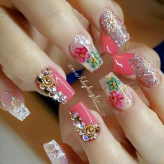 Having short nails is extremely practical. The problem is so many nail art and manicure designs that you'll find online Fabulous Nails, Perfect Nails, Gorgeous Nails, Pretty Nails, Hot Nails, Hair And Nails, Acrylic Nail Designs, Nail Art Designs, Acrylic Nails