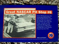 Nascar Old 76 Gas Station Vinyl Sign   FREE SHIPPING!!