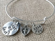 Silver mom gift. New mom. Pregnant Friend Alex and Ani . New baby. Expandable bracelet. Charm bracelet. Stacking bracelet. Baby shower.
