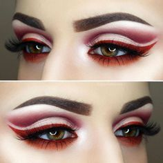 Red cut crease eye look #cutcreasetutorial