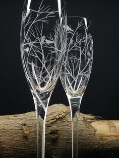 Bird Silhouettes With Reaching Branches  Two by daydreemdesigns, $58.85