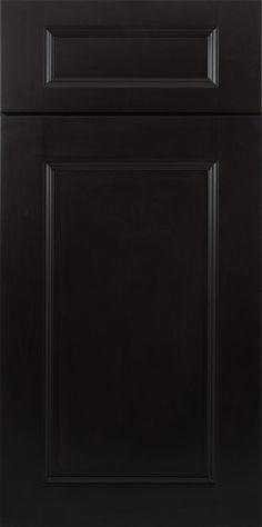 Downtown Black Cabinet Sample Door
