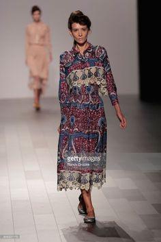 Katya Tolstova walks the runway during the Francesca Liberatore - Runway - September 2017 - New York Fashion Week: The Shows on September 10, 2017 in New York City.