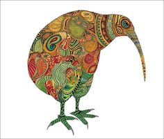 template for garland Maori Patterns, Bird Template, Kiwi Bird, Maori Designs, Bird Quilt, Maori Art, Kiwiana, Sketch Notes, Bird Drawings