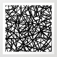 Lazer Dance Black on White Art Print by Bitart - X-Small White Art, Black Art, Artwork Prints, Fine Art Prints, Monochrome Photography, Affordable Art, Buy Frames, Printing Process