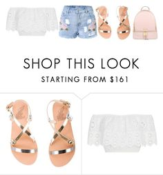 """""""Untitled #741"""" by f3arl3ssprinc3ss ❤ liked on Polyvore featuring Ancient Greek Sandals, Miguelina and Michael Kors"""