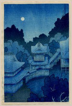 """The Yama Temple, Sendai"" by Hasui, Kawase"