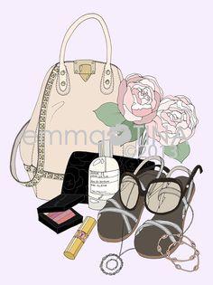 Custom What's in my Bag mini poster by EmmaKisstina. www.emmakisstina.com
