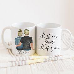 Portrait Mug – Promenade Field Best Friend Mug, Friend Mugs, Couple Mugs, Youre My Favorite Person, Valentines Mugs, Mug Printing, All Craft, Personalized Mugs, Polymer Clay Crafts
