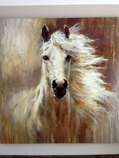 Computer Cabinet Rejuvenated: The Reveal - Let's Get Crafty! Horse Drawings, Animal Drawings, Art Drawings, Horse Wall Art, Horse Artwork, Buy A Horse, Horse Sketch, Animal Paintings, Horse Paintings