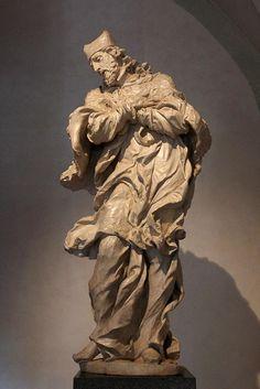 Mathias Bernard Braun - St John of Nepomuk(perhaps 1721),lime-tree wood+polychromy,190cm,Prague-National gallery